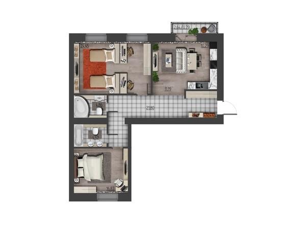 Планировки Жилой комплекс ПРЕОБРАЖЕНСКИЙ, дом 9 - 3-комнатная 94,77 кв.м