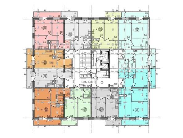 Планировка 3-9 этажей