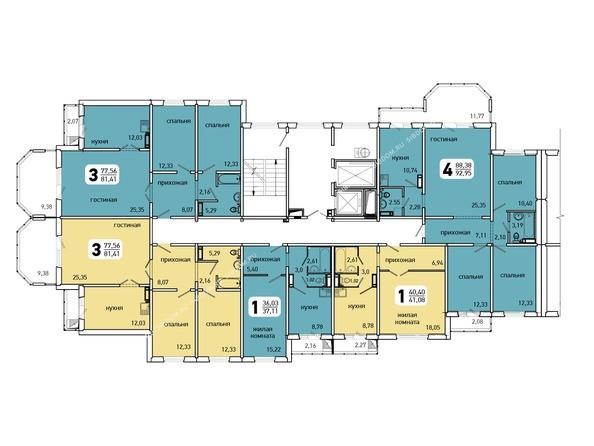 Планировки Жилой комплекс Иннокентьевский, 3 мкр, дом 3 - 5 подъезд, 6-14 этажи
