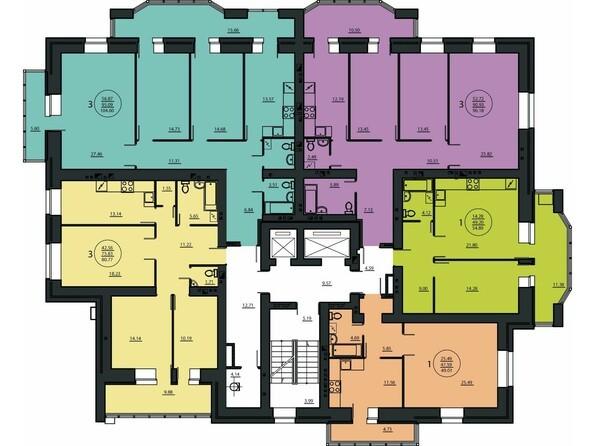 12 этаж, угловой подъезд