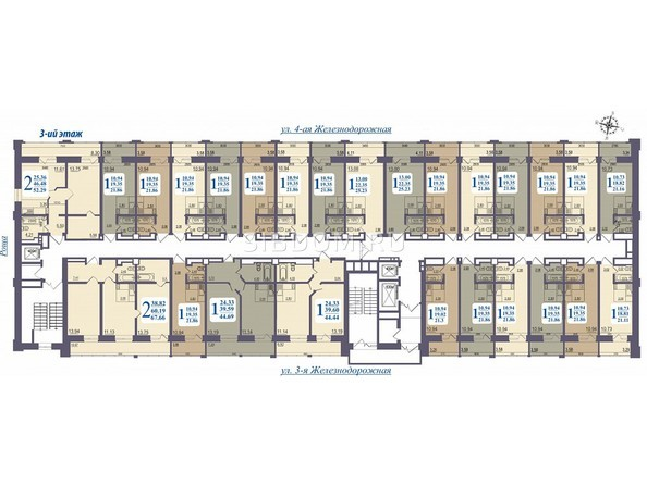 Планировки Жилой комплекс «ALMA MATER» (Альма Матер) - Планировка 3 этажа