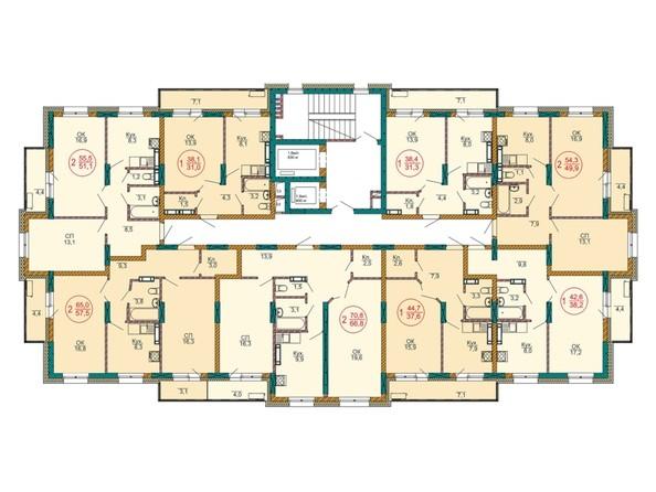 Планировка 3-4 этажей