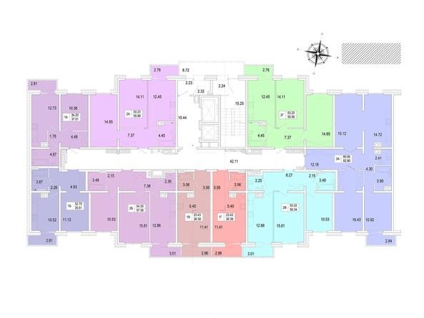 Планировка 3-10 этажей