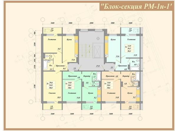 Типовая планировка, б/с РМ-1н-1