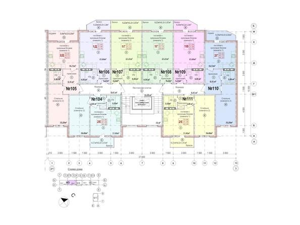 Планировки Жилой комплекс СЕВЕРНАЯ ЗВЕЗДА, дом 9, корпус 3 - Планировка 6-9 этажей, 2 б/с
