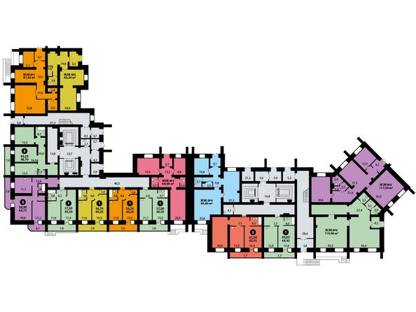 Планировки Жилой комплекс ЭДЕЛЬВЕЙС ж/к, дом 8 - Планировка 1 этажа