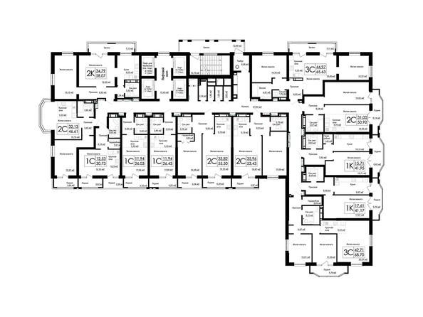 Планировки Жилой комплекс ДОМ НА БЕРЕЗОВОЙ РОЩЕ - Планировка 11 этажа