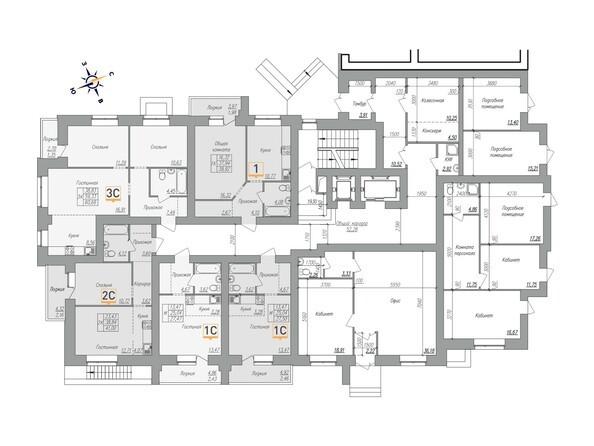 Планировки Жилой комплекс ОГНИ - Планировка 1 этажа, 2 б/с