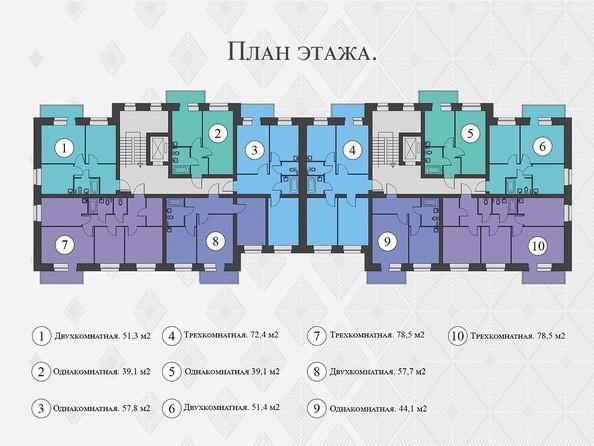 Планировки Жилой комплекс Львовская, 33а - Планировка типового этажа