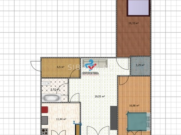 Продам 3-комнатную, 55.2 м², Льнокомбинат ул, 15В. Фото 1.