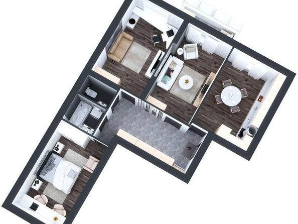 Продам 3-комнатную, 78.2 м2, Молодежная ул, 136. Фото 3.