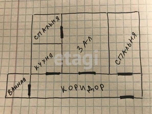 Продам 3-комнатную, 63.9 м2, Грибоедова пер, 24. Фото 1.