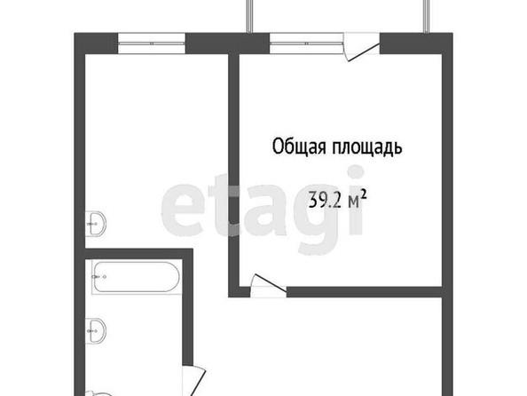 Продам 1-комнатную, 39.2 м2, . Фото 1.