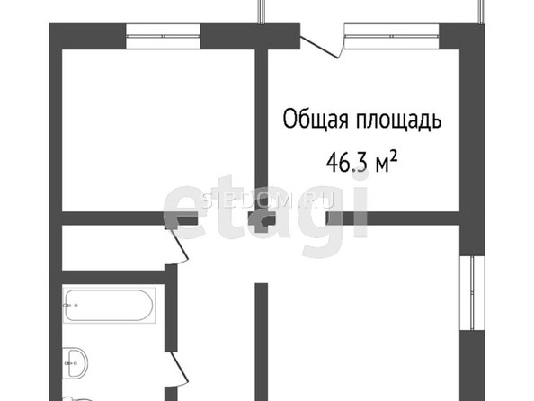 Продам 2-комнатную, 46.3 м2, Гагарина ул, 27к2. Фото 1.